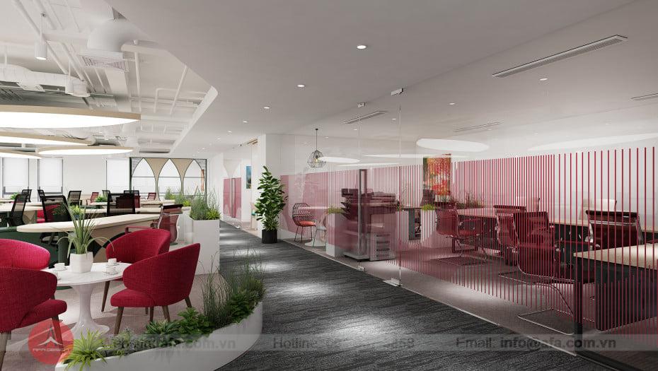 Thiết kế văn phòng Agribank, phong cách hiện đại thổi hồn dân tộc Việt