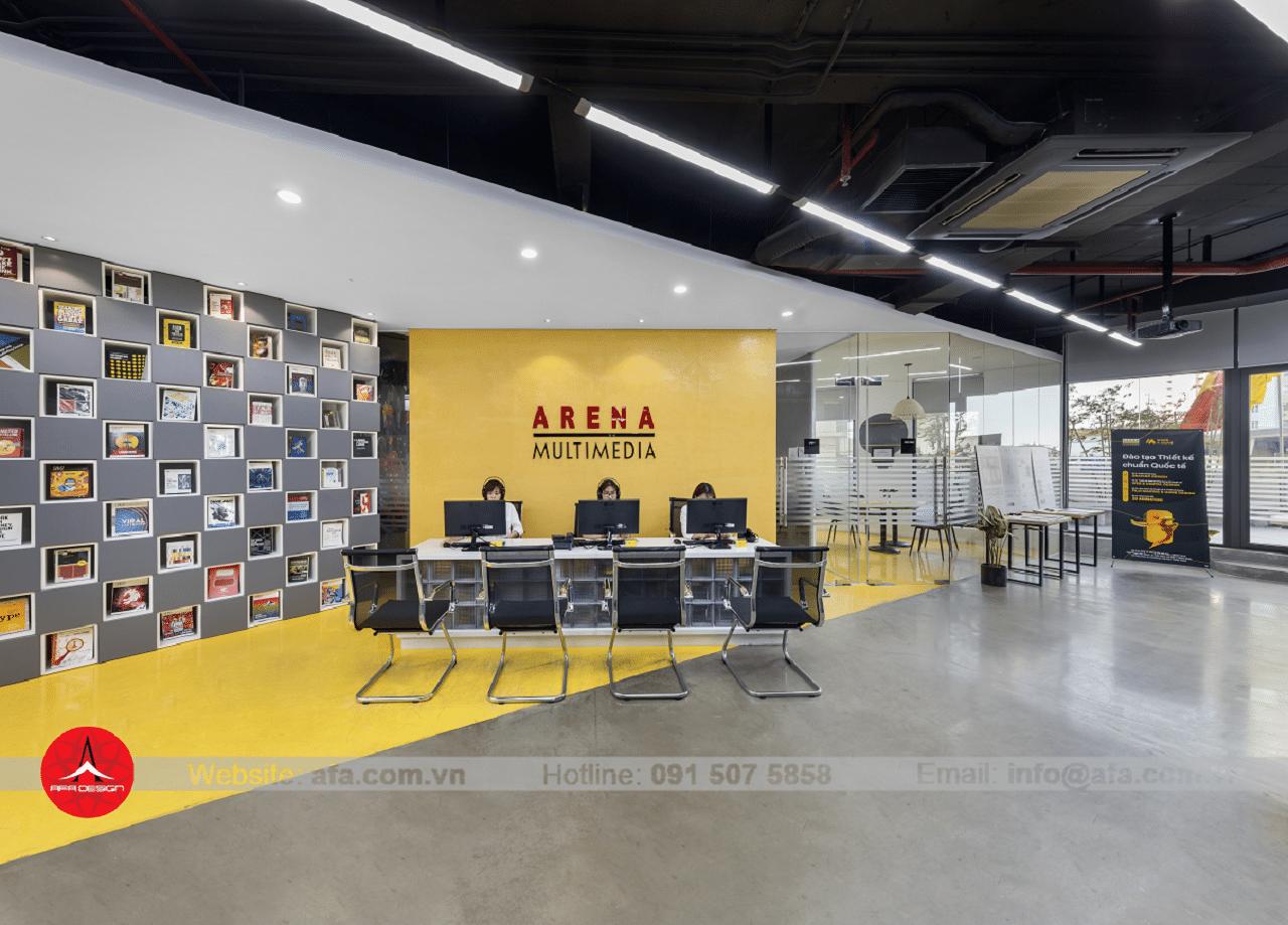 Dấu ấn thương hiệu thể hiện qua sảnh chờ - dự án Arena Multimedia